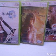 Videojuegos y Consolas: LOTE DE JUEGOS XBOX 360 FINAL FANTASY XIII NBA 06 NARNIA (NUEVO). Lote 151946534