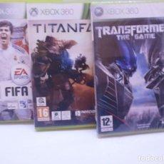 Videojuegos y Consolas: LOTE DE JUEGOS XBOX 360 TRANSFORMERS (NUEVO) FIFA 11 TITANFALL. Lote 151947518