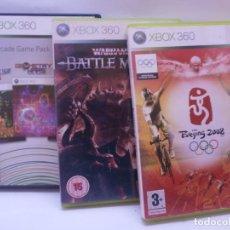 Videojuegos y Consolas: LOTE DE JUEGOS XBOX 360 ARCADE GAME PACK BEIJING 2008 WARHAMMER BATTLE MARCH. Lote 151948270