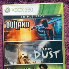 Videojuegos y Consolas: JUEGO XBOX 360 - TRIPLE PACK; BEYOND GOOD & EVIL HD + FROM DUST + OUTLAND - 2010. Lote 152182294