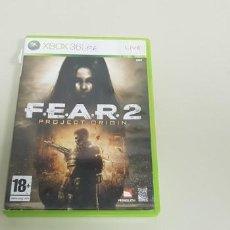 Videojuegos y Consolas: J- FEAR 2 XBOX 360 VERSION ESPAÑOLA SIN MNUAL . Lote 153960458