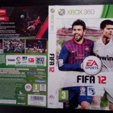 Videojuegos y Consolas: (SOLO CARATULA) FIFA 12 - ORIGINAL - XBOX 360 -. Lote 157761366