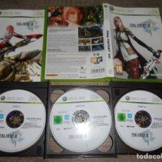 Videojuegos y Consolas: XBOX 360 FINAL FANTASY XIII PAL ESP COMPLETO. Lote 160330454