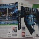 Videojuegos y Consolas: ALIENS COLONIAL MARINES (SOLO CARATULA). Lote 160383782