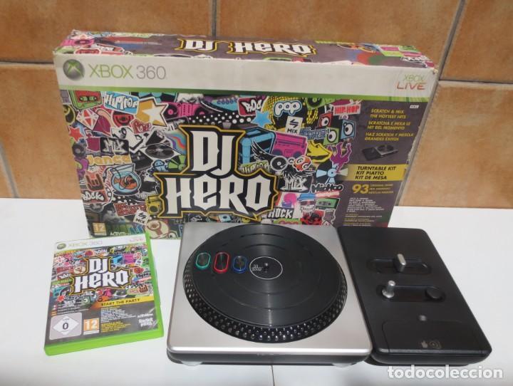 DJ HERO - COMPLETO - MESA DJ + JUEGO PARA XBOX 360 EN CAJA ORIGINAL. (Juguetes - Videojuegos y Consolas - Microsoft - Xbox 360)