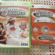 Videojuegos y Consolas: VIRTUA TENNIS 2009 SEGA XBOX 360 X360 KREATEN MICROSOFT. Lote 163448374
