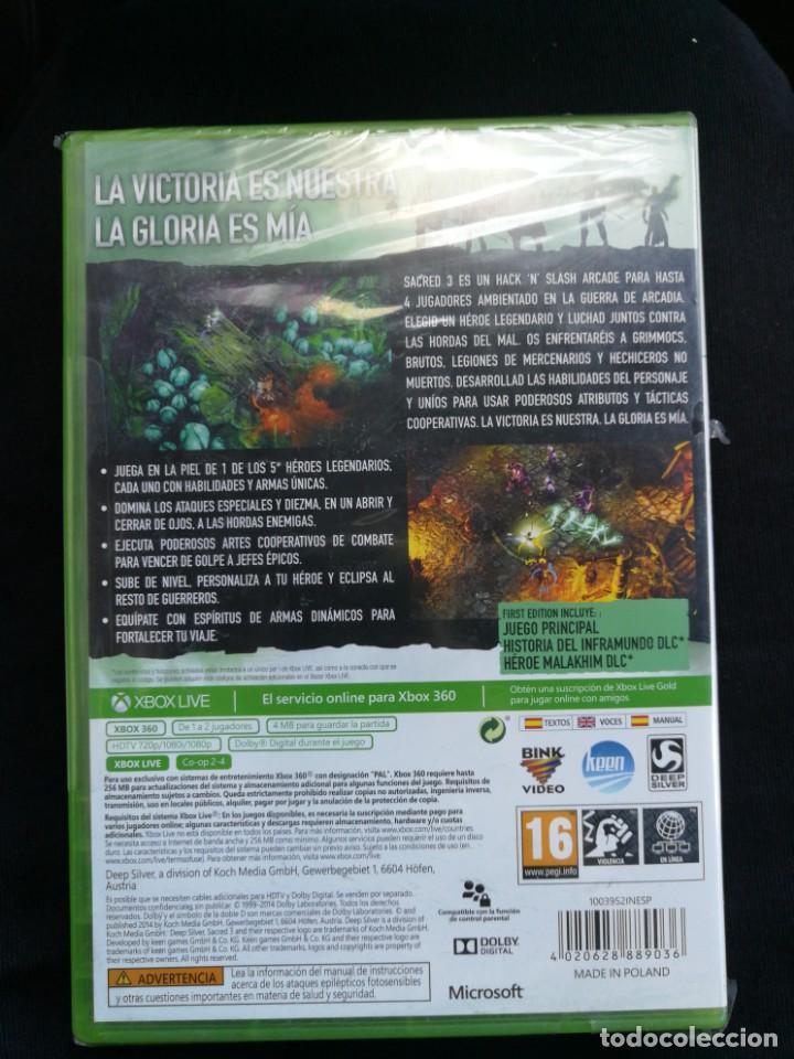 Videojuegos y Consolas: XBOX 360 - SACRED 3 FIRST EDITION - NUEVO - Foto 2 - 164619290