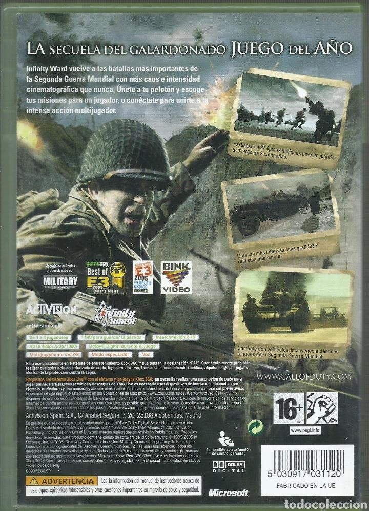 Videojuegos y Consolas: Call of Duty 2, Caratula en español juego en ingles PAL - Foto 3 - 170893860