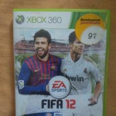 Videojuegos y Consolas: JUEGO VIDEOJUEGO FIFA 2012, XBOX 360 DE EA SPORTS. Lote 171628910