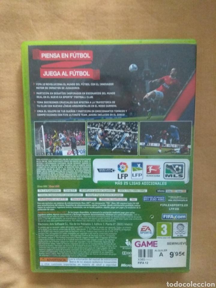 Videojuegos y Consolas: JUEGO VIDEOJUEGO FIFA 2012, XBOX 360 DE EA SPORTS - Foto 3 - 171628910