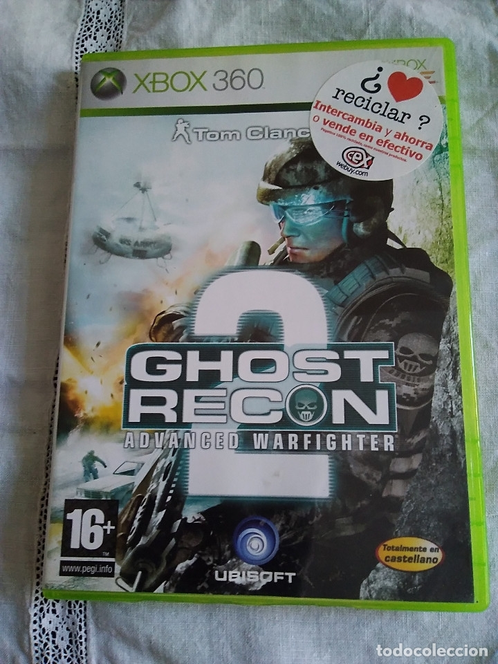 30-XBOX 360 , GHOST RECON 2, ADVANCE WARFITHER, CON MANUAL Y CAJA. (Juguetes - Videojuegos y Consolas - Microsoft - Xbox 360)