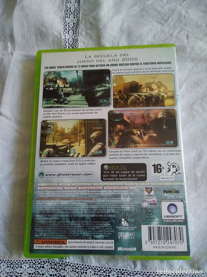 Videojuegos y Consolas: 30-XBOX 360 , GHOST RECON 2, advance warfither, con manual y caja. - Foto 3 - 176220120