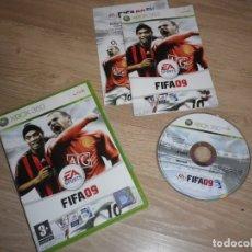 Videojuegos y Consolas: XBOX360 JUEGO FIFA 09 COMPLETO PAL UK. Lote 176290623