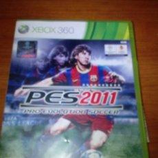 Videojuegos y Consolas: CAJA Y INTRUCCIONES. XBOX 360 PES 2011. SIN DISCO. . Lote 180855905