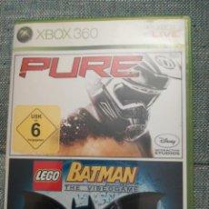 Videojuegos y Consolas: JUEGO PARA XBOX 360 PURE Y LEGO BATMAN. Lote 183600718
