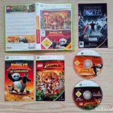 Videojuegos y Consolas: JUEGO XBOX 360 - LEGO INDIANA JONES + KUNG FU PANDA. Lote 183679033