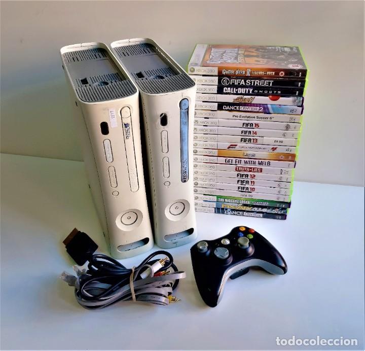 DOS CONSOLAS XBOX 360 + 20 JUEGOS + MANDO Y CONECTORES (SI FUNCIONAN) (Juguetes - Videojuegos y Consolas - Microsoft - Xbox 360)