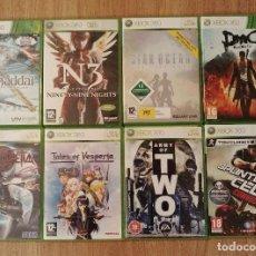 Videojuegos y Consolas: PACK LOTE 9 JUEGOS XBOX 360, BAYONETTA, TALES VESPERIA, ARMY OF TWO, N3. Lote 149296878