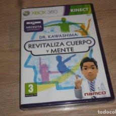 Videojuegos y Consolas: XBOX360 JUEGO DR. KAWASHIMA REVITALIZA CUERPO Y MENTE - NUEVO - KINECT. Lote 186420787