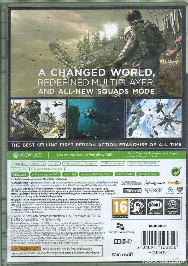 Videojuegos y Consolas: Call of Duty: Ghosts (Caratula en ingles, juego en castellano) - Foto 2 - 189430520