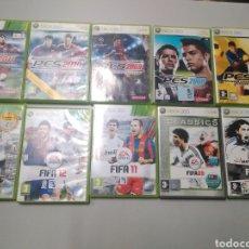 Videojuegos y Consolas: LOTE 10 JUEGOS DE FÚTBOL XBOX 360, PRO, PES, FIFA. Lote 190560052