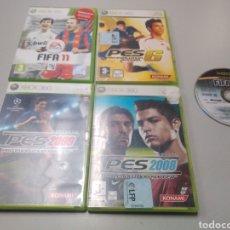 Videojuegos y Consolas: LOTE 4 JUEGOS FÚTBOL XBOX 360, PRO PES, FIFA MÁS REGALO. Lote 190561906