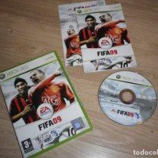 Videojuegos y Consolas: XBOX360 JUEGO FIFA 09 COMPLETO PAL UK. Lote 190602693
