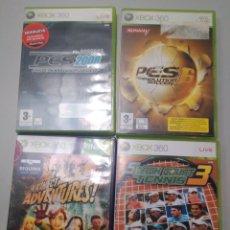 Videojuegos y Consolas: LOTE 4 JUEGOS DE XBOX 360 PES TENNIS KINECT. Lote 190783605