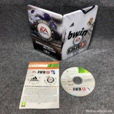 Videojuegos y Consolas: FIFA 13 STEELBOOK REAL MADRID MICROSOSFT XBOX 360. Lote 192109960