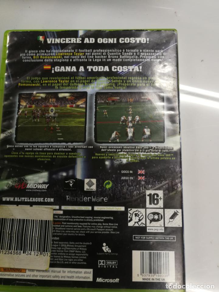 Videojuegos y Consolas: RARO Y BUSCADO JUEGO XBOX 360 BLITZ THE LEAGUE, FUNCIONANDO - Foto 3 - 192171895