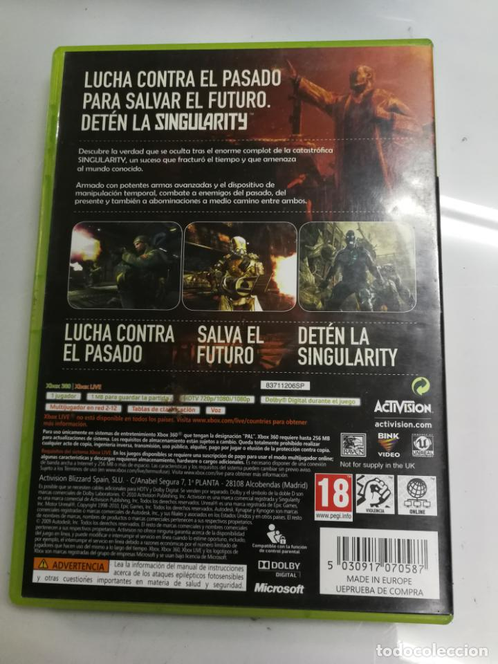 Videojuegos y Consolas: RARO Y BUSCADO JUEGO XBOX 360 SINGULARITY, FUNCIONANDO - Foto 2 - 192172117
