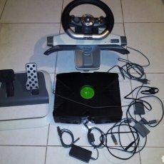 Videojuegos y Consolas: CONSOLA XBOX , VOLANTE,ACELERADOR,CABLES..MUY BUEN ESTADO.. Lote 194083843