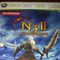 Videojuegos y Consolas: N3 II NINETY-NINE NIGHTS XBOX 360 COMPLETO PAL ITA. Lote 194121468