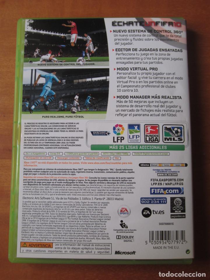 Videojuegos y Consolas: FIFA 10 (Xbox 360) - Foto 2 - 194254063
