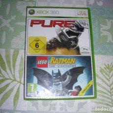 Videojuegos y Consolas: JUEGO XBOX 360 NUEVO Y PRECINTADO . PURE Y LEGO BATMAN . Lote 194692070