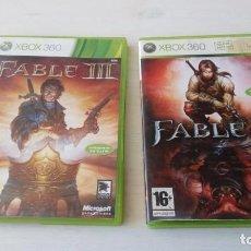 Videojuegos y Consolas: CAJA E INSTRUCCIONES FABLE II Y FABLE III XBOX 360 NO CONTIENE EL JUEGO. Lote 195631158