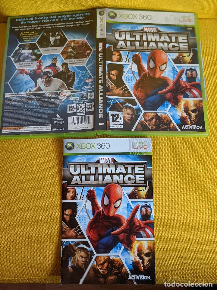 CAJA INSTRUCCIONES XBOX 360 MARVEL ULTIMATE ALLIANCE (Juguetes - Videojuegos y Consolas - Microsoft - Xbox 360)