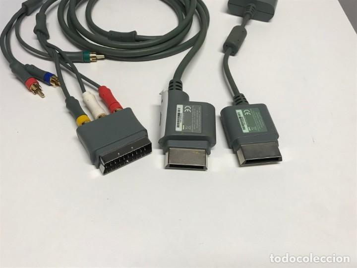 Videojuegos y Consolas: JUEGO DE CABLES Y CONECTORES XBOX 360 - Foto 3 - 198862156