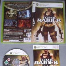 Videojuegos y Consolas: JUEGO MICROSOFT XBOX 360 TOMB RAIDER UNDERWORLD COMPLETO CAJA Y MANUAL PAL R10471. Lote 199197670