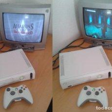 Videojuegos y Consolas: MICROSOFT XBOX 360 CORE COMPLETA BLANCA CON CABLES Y MANDO PAL ESPAÑA ORIGINAL!! R10497. Lote 199274730