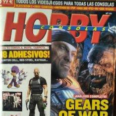 Videojuegos y Consolas: HOBBY CONSOLAS Nº 183- GEARS OF WAR + PEGATINAS + POSTERS ZELDA TWILIGHT PRINCESS + GUIA: SCARFACE... Lote 199579080