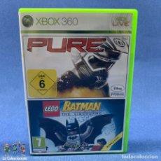 Videojuegos y Consolas: VIDEOJUEGOS - PURE + LEGO BATMAN - XBOX 360. Lote 203970496
