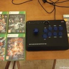 Videojuegos y Consolas: LOTE DE JUEGOS DE LUCHA XBOX360 Y STICK ARCADE MAYFLASH. Lote 206585252