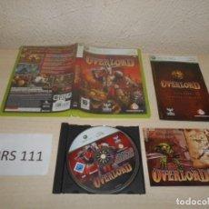 Videojuegos y Consolas: XBOX360 - OVERLORD , PAL ESPAÑOL , COMPLETO. Lote 206926358