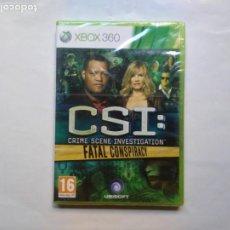 Videojuegos y Consolas: CSI : FATAL CONSPIRACY XBOX 360 UBISOFT VIDEOJUEGO EN INGLÉS EN BLISTER SIN ABRIR. Lote 207061168