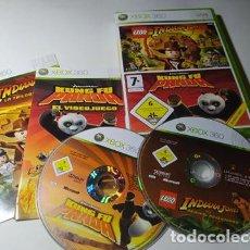 Videojuegos y Consolas: LEGO INDIANA JONES + KUNG FU PANDA ( XBOX 360 - PAL - ESPAÑA). Lote 211870161