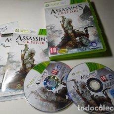 Videojuegos y Consolas: ASSASSIN´S CREED 3 ( XBOX 360 - PAL - ESPAÑA). Lote 211870812