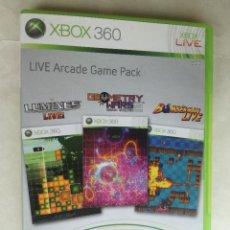 Videojuegos y Consolas: LIVE ÁRCADE GAME PACK XBOX360 - JUEGO EN MUY BUEN ESTADO. Lote 214772252