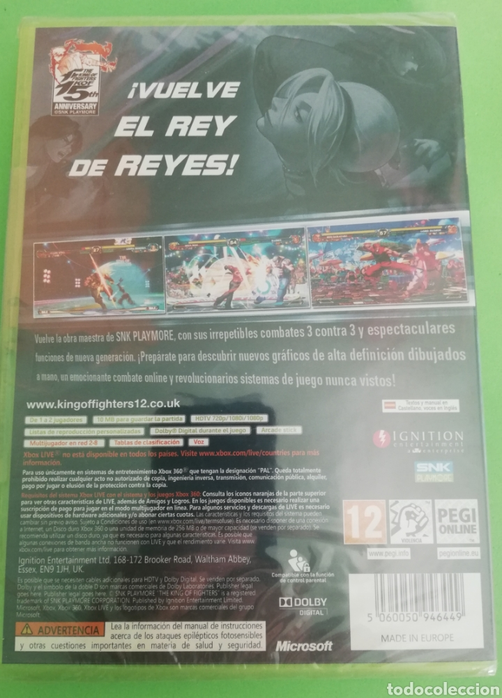 Videojuegos y Consolas: The King Of Fighters XII XBOX 360 Precintado, pal españa - Foto 2 - 217206276