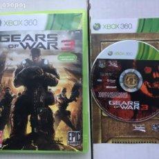 Videojogos e Consolas: GEARS OF WAR 3 GEAR WARS III GOW X360 XBOX 360 X-BOX KREATEN. Lote 219821420